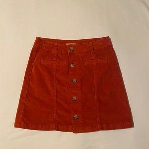 true craft corduroy skirt